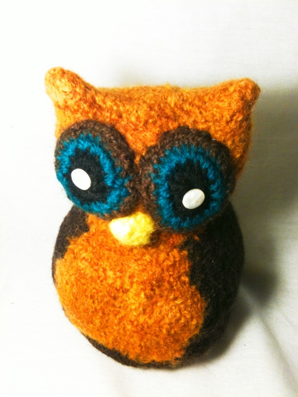 Free Crochet Pattern For Owl Toy : A Small Mad Hope: Free Crochet Pattern for Felted Funky ...