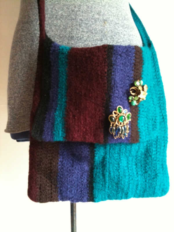 ... Pattern: Easy Beginner Felted Crocheted Practical Momma Messenger Bag